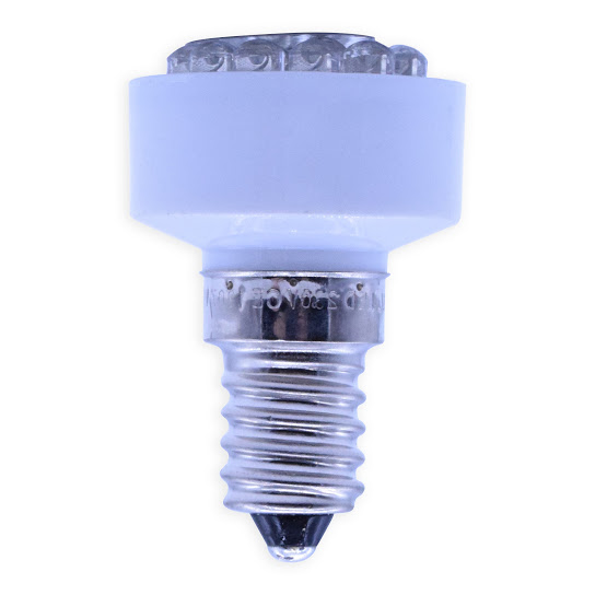 E14 STROBO Multi LED 230Volt/0,2W koud wit
