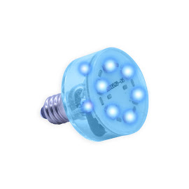 E10 Multi LED light 230Volt/2,3W blauw