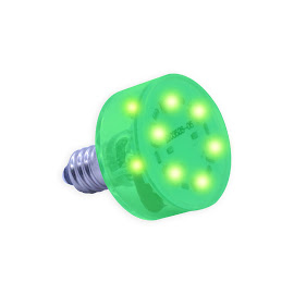E10 Multi LED light 230Volt/2,3W groen